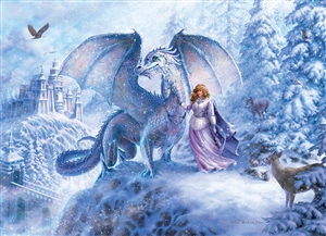 Ice Dragon (Family) Easy Handling 275 pc jigsaw puzzle by Cobble Hill Puzzle Co.