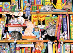 Storytime Kittens (Family) Easy Handling 275 pc jigsaw puzzle by Cobble Hill Puzzle Co.