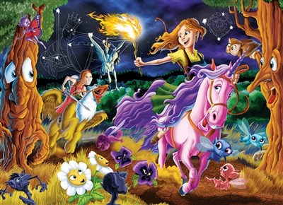 Mystical World Family Pieces 350 Puzzle by Cobble Hill Puzzle Co