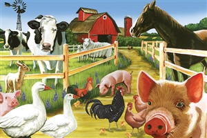 36pc Welcome to the Farm jigsaw puzzle | Cobble Hill Puzzle Company