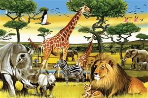 36pc African Plains jigsaw puzzle | Cobble Hill Puzzle Company