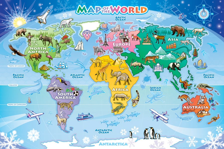Map of the World 48pc jigsaw puzzle – Map World Puzzle