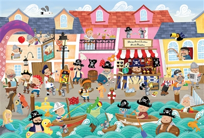 55118 36pc Pirates on Vacation jigsaw puzzle | Cobble Hill Puzzle Company