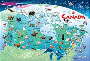 55119 36pc Map of Canada jigsaw puzzle | Cobble Hill Puzzle Company