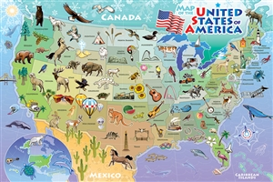 55120 36pc Map of the USA jigsaw puzzle | Cobble Hill Puzzle Company
