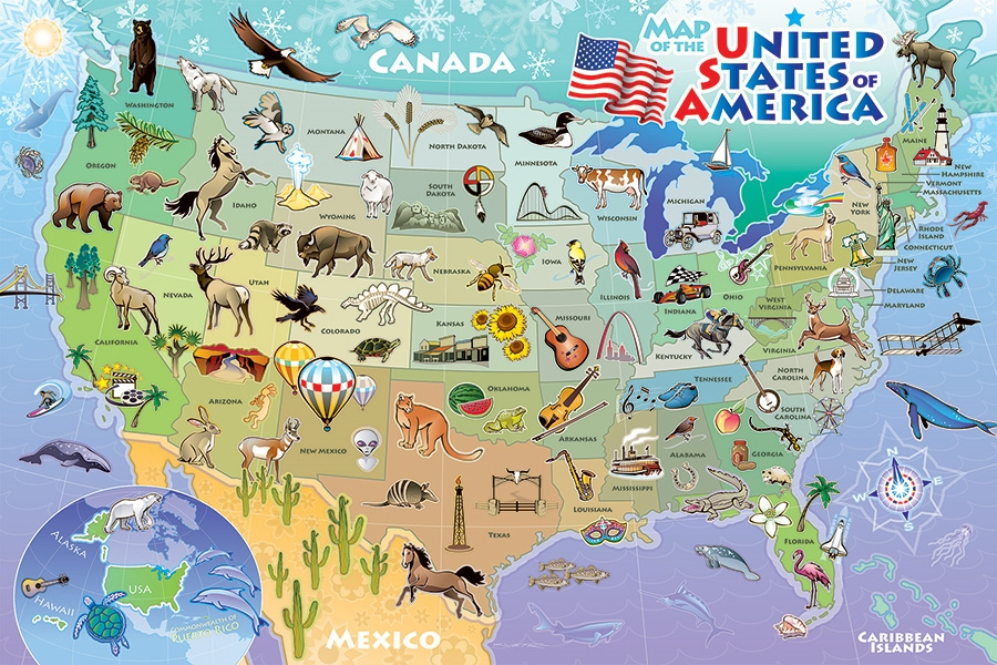 Map Of Canada Puzzle.Map Of The Usa Floor Puzzle