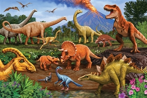 Floor Puzzle Dinos jigsaw puzzle by Cobble Hill Puzzle Co.