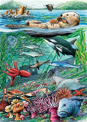 35pc Life on the Pacific Ocean Tray jigsaw puzzle | Cobble Hill Puzzle Company