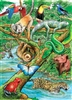 35pc Life in a Tropical Rainforest Tray jigsaw puzzle | Cobble Hill Puzzle Company