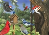 35pc Around the Birdfeeder Tray jigsaw puzzle | Cobble Hill Puzzle Company