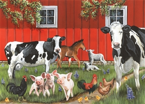35pc Red Barn Farm Tray jigsaw puzzle | Cobble Hill Puzzle Company