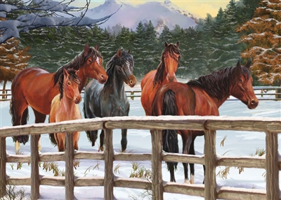 35pc Snowy Pasture Tray jigsaw puzzle | Cobble Hill Puzzle Company