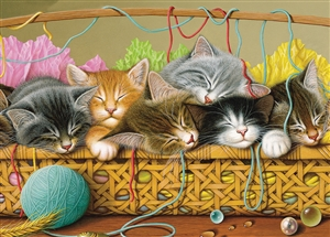 35pc Kittens in BasketTray jigsaw puzzle | Cobble Hill Puzzle Company