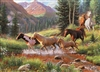 35pc Horse Stream Tray jigsaw puzzle | Item 58875 | Cobble Hill Puzzle Company