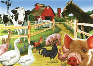 35pc Farmyard Welcome Tray jigsaw puzzle | Item 58880 | Cobble Hill Puzzle Company