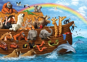 35pc Voyage of the Ark Tray jigsaw puzzle | Item 58881 | Cobble Hill Puzzle Company