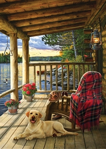 35pc Lake Cabin Labrador Tray jigsaw puzzle | Item 58887 | Cobble Hill Puzzle Company