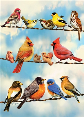 35pc Blue Sky Birds Tray jigsaw puzzle | Item 58888 | Cobble Hill Puzzle Company