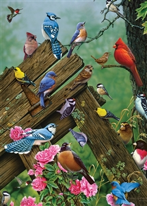 35pcWildbird Gathering Tray jigsaw puzzle | Item 58889 | Cobble Hill Puzzle Company