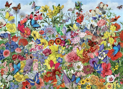 1000pc Butterfly Garden jigsaw puzzle | 80032 | Cobble Hill Puzzle Co