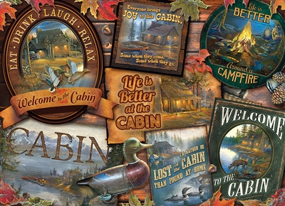 1000pc Cabin Signs jigsaw puzzle | 80040 | Cobble Hill Puzzle Co