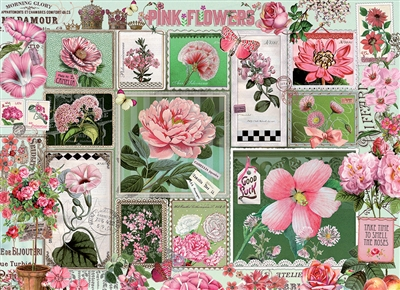 1000pc Pink Flowers jigsaw puzzle | 80042 | Cobble Hill Puzzle Co