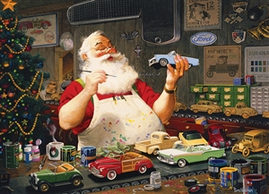 1000pc Santa Painting Cars jigsaw puzzle | 80046 | Cobble Hill Puzzle Co