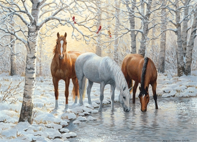 80055 | 1000pc Winter Trio jigsaw puzzle | Cobble Hill Puzzle Company
