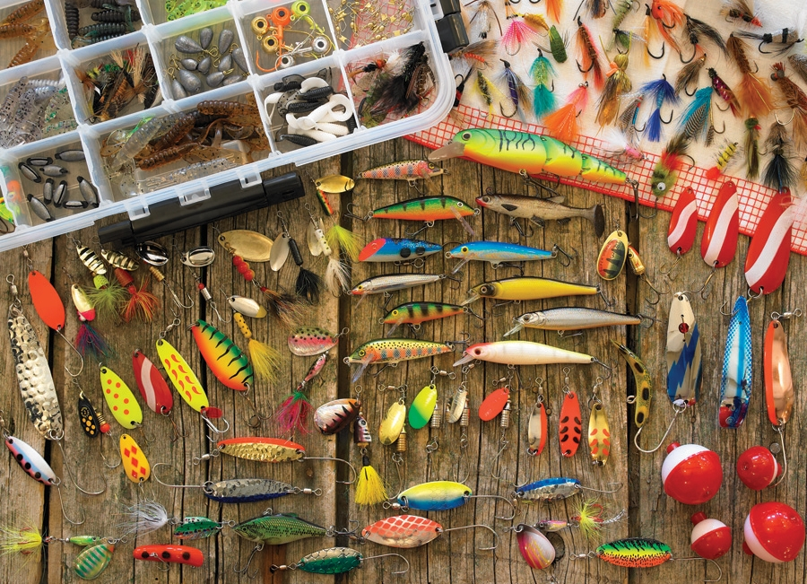Fishing Lures 1000pc Jigsaw Puzzle Item 80058 Cobble Hill Puzzle Co