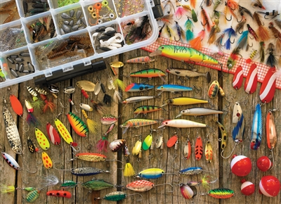 1000pc Fishing Lures jigsaw puzzle | Cobble Hill Puzzle Company