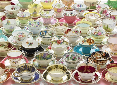 1000pc More Teacups jigsaw puzzle | Cobble Hill Puzzle Co