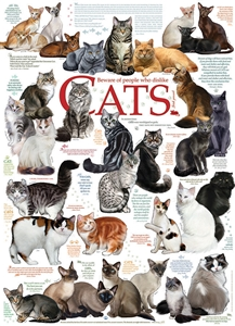 1000pc Cat Quotes jigsaw puzzle | Cobble Hill Puzzle Co