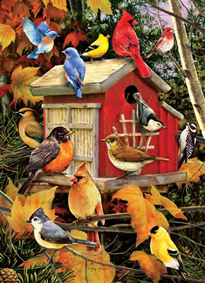 1000pc Fall Birds jigsaw puzzle |  Cobble Hill Puzzle Co