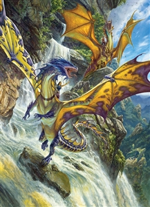 1000pc Waterfall Dragons jigsaw puzzle |  Cobble Hill Puzzle Co