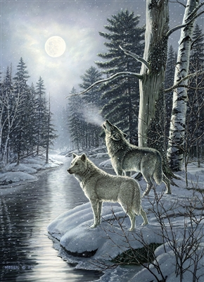 1000pc Wolves by Moonlight jigsaw puzzle |  Cobble Hill Puzzle Co