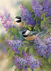 1000pc Chickadees and Lilacs jigsaw puzzle |  Cobble Hill Puzzle Co