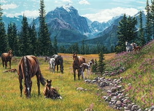 1000pc Horse Meadow jigsaw puzzle |  Cobble Hill Puzzle Co