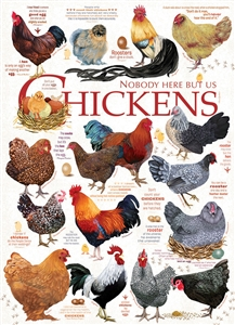 80120 | 1000pc Chicken Quotes jigsaw puzzle | Cobble Hill Puzzle Co