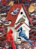 80122 | 1000pc Winter Birdhouse jigsaw puzzle | Cobble Hill Puzzle Co