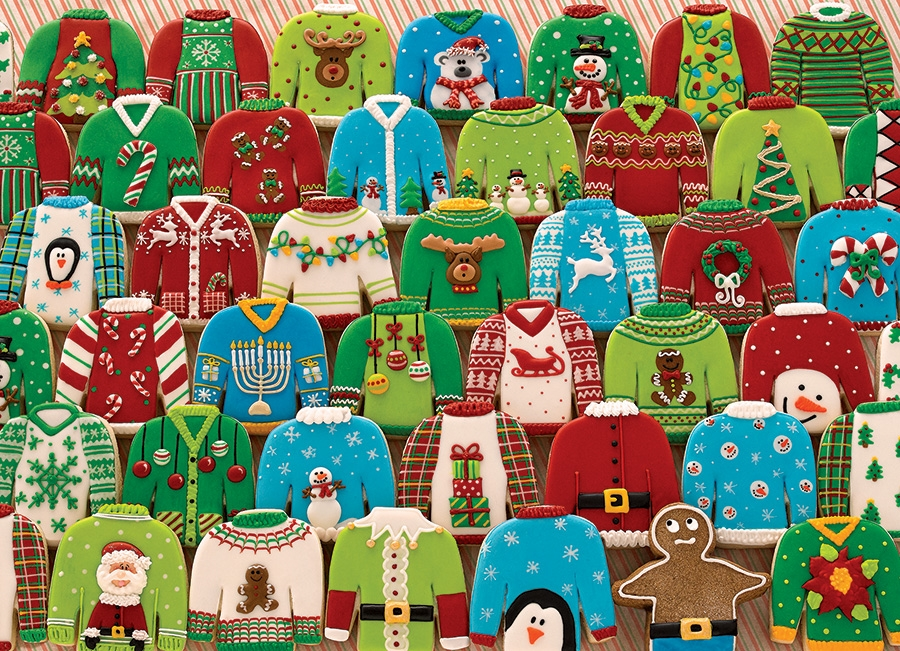 cobble hill puzzle  1000pc Ugly Xmas Sweaters jigsaw puzzle | 80143 | Cobble Hill Puzzle Co