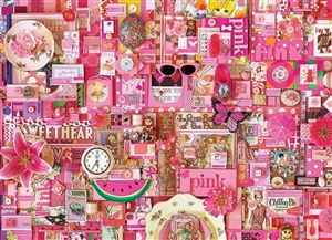 80145 | 1000pc Pink jigsaw puzzle | Cobble Hill Puzzle Co
