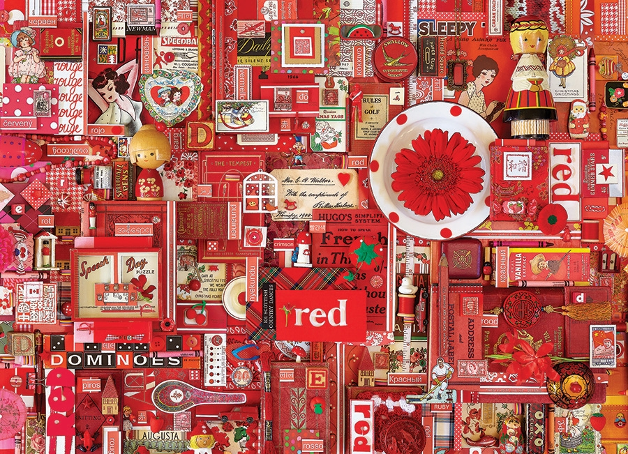 cobble hill puzzle  1000pc Red jigsaw puzzle | 80146 | Cobble Hill Puzzle Co
