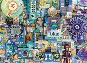 80150 | 1000pc Blue jigsaw puzzle | Cobble Hill Puzzle Co