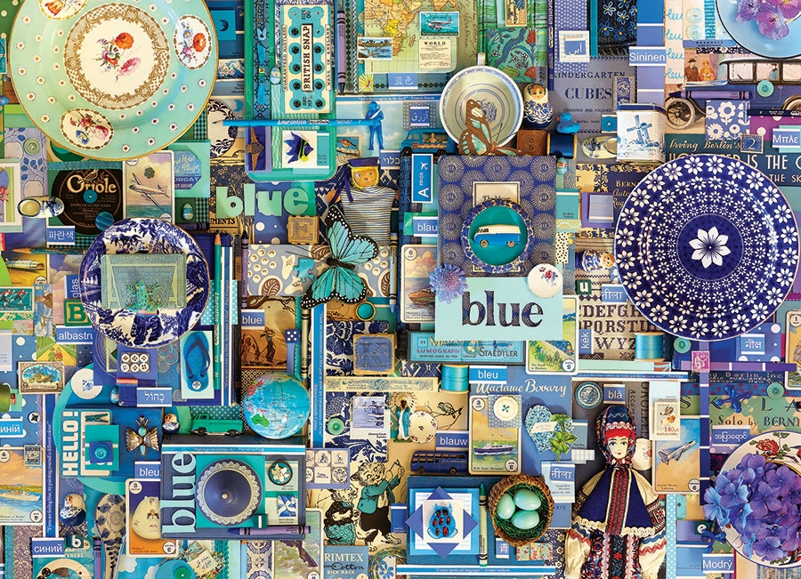 cobble hill puzzle  80150 | 1000pc Blue jigsaw puzzle | Cobble Hill Puzzle Co