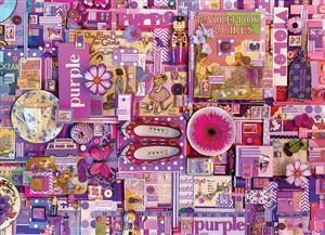 1000pc Purple jigsaw puzzle | 80151 | Cobble Hill Puzzle Co