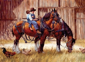 1000pc Back to the Barn jigsaw puzzle | 80155 | Cobble Hill Puzzle Co