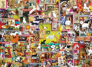 1000pc Dogtown (Shelley Davies collage) jigsaw puzzle by Cobble Hill Puzzle Co.