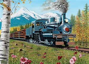 1000pc Lumbering Along jigsaw puzzle by Cobble Hill Puzzle Co.
