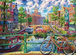 1000pc Amsterdam Canal jigsaw puzzle by Cobble Hill Puzzle Co.