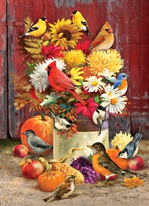 1000pc Autumn Bouquet jigsaw puzzle by Cobble Hill Puzzle Co.